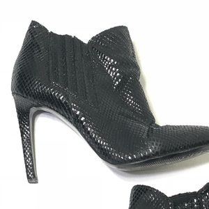 Guess Shoes - Guess Size 7.5 Textured Black Heeled Ankle Booties